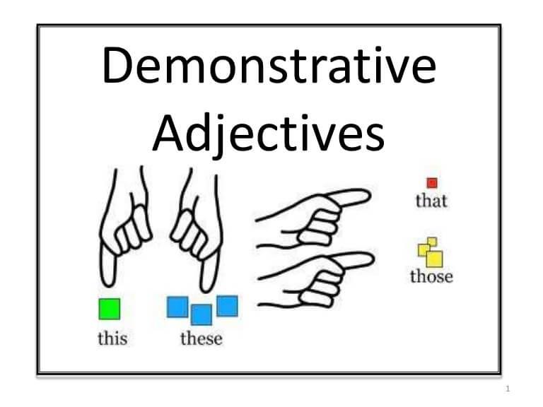 adjetivos demostrativos - The adjectives