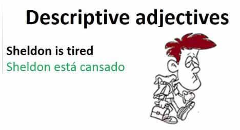 adjetivos descriptivos - The adjectives