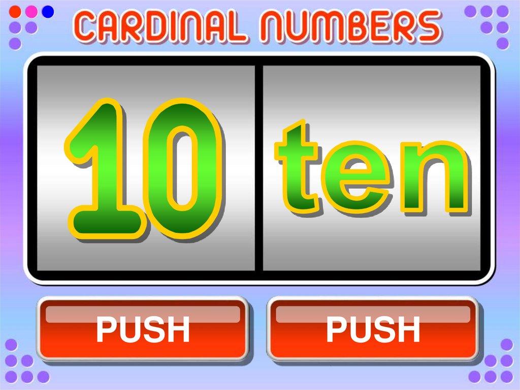 numeros cardinales - Cardinal and ordinal numbers