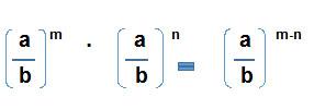 Division Potencias igual Base cuando la base es un cociente - Potencia