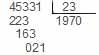 Entonces dividimos 45331 entre 23 y sabemos que tanto el cociente como el residuo son centesimas - Números decimales