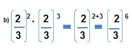 Multiplicacion Potencia igual Base cuando base es cociente - Potencia