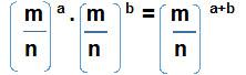 Multiplicacion Potencias igual Base cuando base es cociente - Potencia
