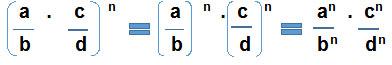 Potencia de un producto cuando la base es una fraccion - Potencia