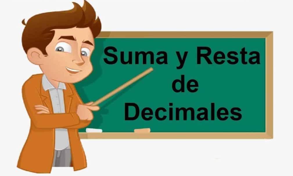 Suma y resta de decimales - Números decimales