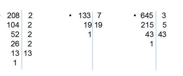 descomposicion 208 133 645 - Números primos y compuestos