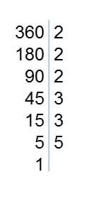descomposicion factores primos 360 - Números primos y compuestos