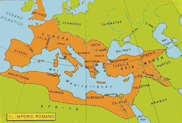 mapa imperio romano - Imperio romano