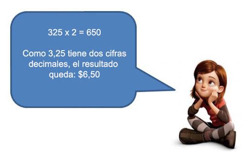 multiplicacion numeros decimales - Números decimales