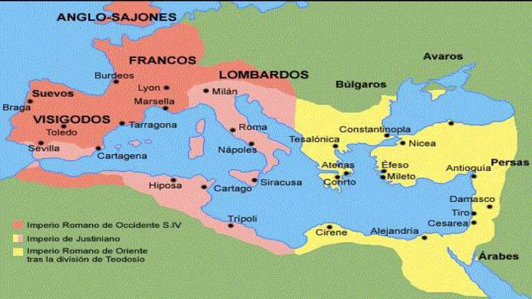 ubicacion bizantinos - Imperio Bizantino